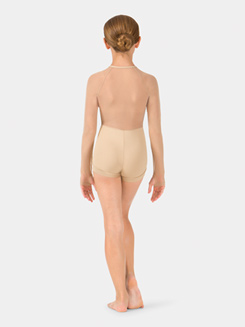 Child Mesh Long Sleeve Zip Front Shorty Unitard