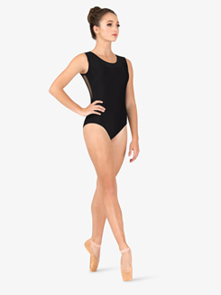 Womens Mesh Crisscross Binding Tank Leotard