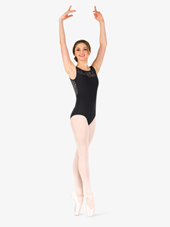 Womens Kaleidoscope Mesh Triple Keyhole Leotard