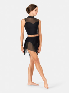 Adult Spiral Hem Mesh Performance Skirt