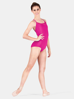Adult Halter Power Mesh Leotard