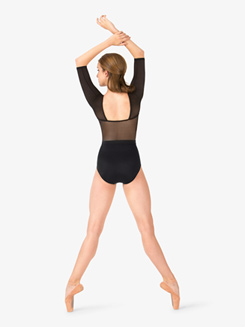 Womens Tiler Peck Power Mesh 3/4 Sleeve Leotard
