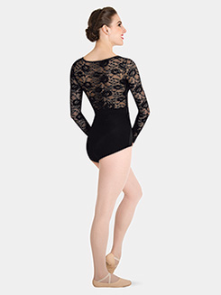 Child Long Sleeve Lace Back Leotard