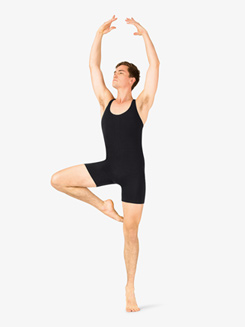 Mens Dance Tank Racerback Shorty Unitard