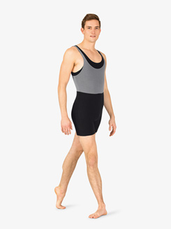 Mens Dance Two-Tone Tank Shorty Unitard