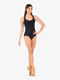Womens V-Front Weave Multi-Strap Back Leotard