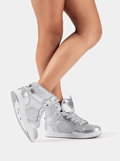 Glam Pie Glitter Silver Sneakers