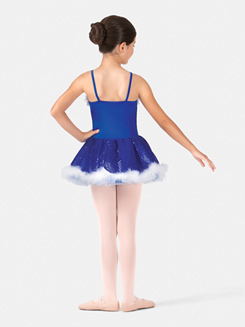 Girls Camisole Sequined Costume Dress