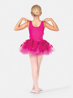 Girls Tank 3-D Floral Tutu Dress