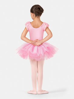 Girls Short Sleeve Sequined Tutu Dress