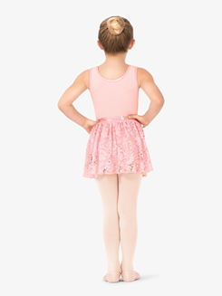Girls Floral Lace Tank Ballet Dress