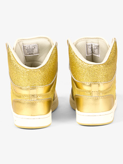 Kids Gold Glam Pie Glitter Sneakers