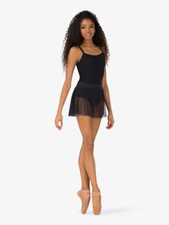 Womens Dotted Mesh Ballet Skirt