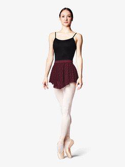 Womens Diamond Mesh Pull-On Ballet Skirt