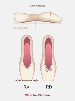 Adult Rubin Pointe Shoe (Ruby)