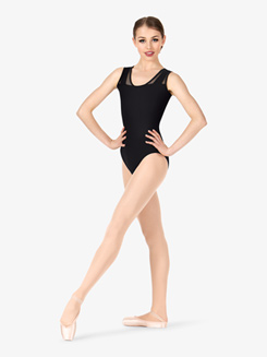 Womens Mesh Insert Leotard