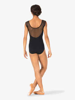Womens Cap Sleeve Mesh Back Leotard