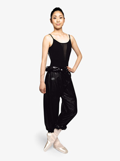 Womens High Waist Garbage Bag Dance Pants