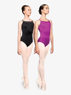 Womens Determined Strappy Back Camisole Leotard