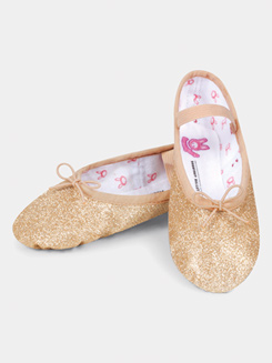 Girls Full Sole Glitterdust Ballet Slipper
