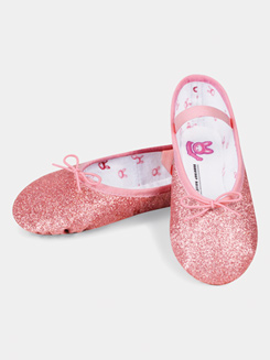Toddler Full Sole Glitterdust Ballet Slipper