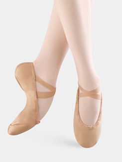 Pump Womens Split-Sole Canvas Ballet Slipper