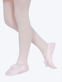 Girls Lil Princess Stretch Satin Slipper