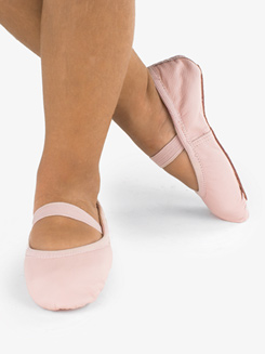 Girls Bella Leather Full Sole Ballet Shoes