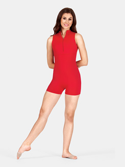 Adult Zip Front Lace Tank Biketard