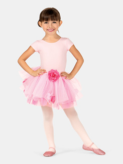 Child Rose Tutu Skirt With Petals