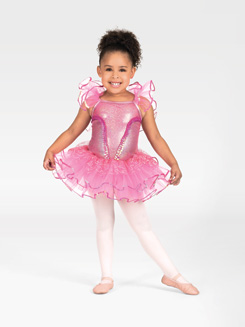 Child Tutu Dress with Flutter Sleeves