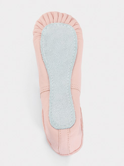 Girls Full Sole Leather Princess Ballet Slipper