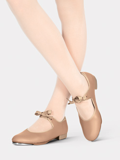 Adult Beginner Tap Shoe with Ribbon Tie