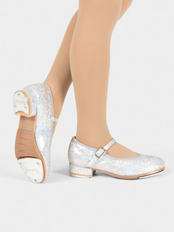 Girls Glitter Sparkle Tap Tap Shoe