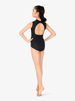 Girls Mock Neck Back Cutout Leotard