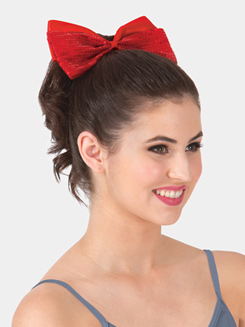 8 Oversized Sequin Bow Hair Barrette