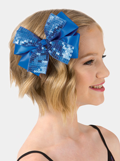 Square Sequin 6 Ribbon Hair Bow Hair Clip
