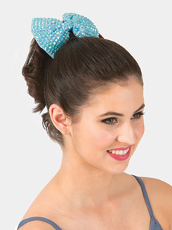 6 Rhinestone Bow Hair Barrette