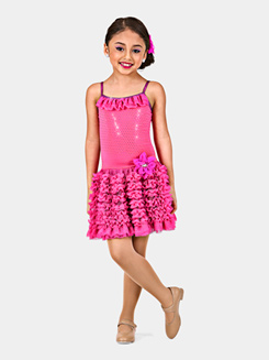 Bubblegum Kisses Girls Ruffle Dress