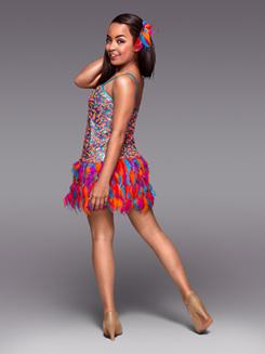 Copacabana Adult Sequin & Feather Dress