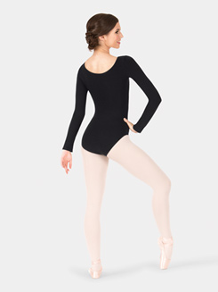 Adult Cotton Blend Long Sleeve Leotard
