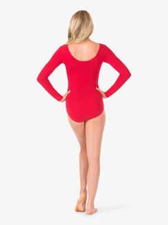 Womens Pinched Long Sleeve Leotard