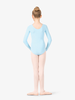 Girls Pinched Long Sleeve Leotard