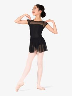 Girls Mock Wrap Pull-On Ballet Skirt