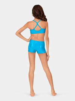 Girls Zebra Foil Print Camisole Bra Top