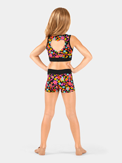 Girls Hearts & Flowers Dance Shorts