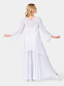 Ladies Worship Long Sleeve White Tunic