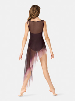 Adult Painted Asymmetrical Side Drape Tank Lyrical Dress