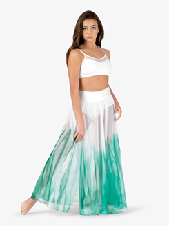 Womens Hand Painted Floor-Length Lyrical Skirt
