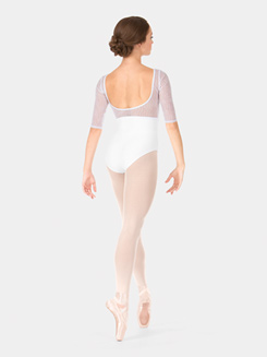 Adult Wave Mesh 3/4 Sleeve Leotard